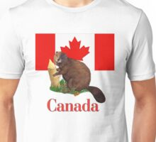 Canadian Flag and Beaver Unisex T-Shirt