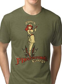 Painless Electric Pinstriping Tri-blend T-Shirt