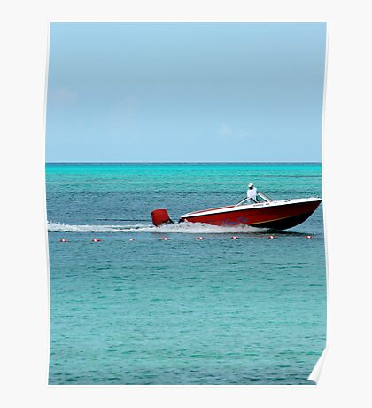 red speed boat  Poster