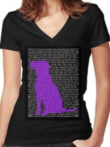 """""""The Year Of The Dog"""" Clothing Women's Fitted V-Neck T-Shirt"""