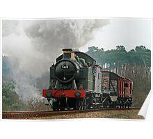 5619 Steam Locomotive Poster