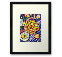 STILL LIVE WITH APPLES Framed Print