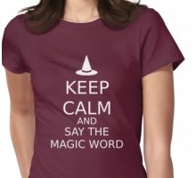 Say The Magic Word Womens Fitted T-Shirt