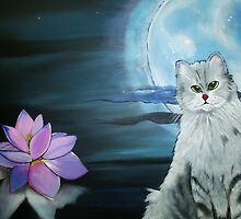 Zen Kitty by Karen L Ramsey