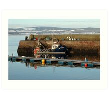 Cold Cromarty Harbour Art Print