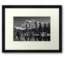 Mt. Baker Mono Splendor Framed Print
