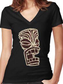 Tiki T-Shirt Women's Fitted V-Neck T-Shirt