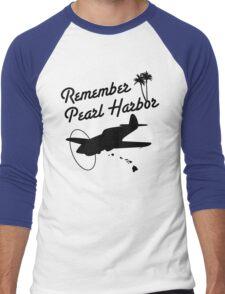 Remember Pearl Harbor (Black Ver.) Men's Baseball ¾ T-Shirt