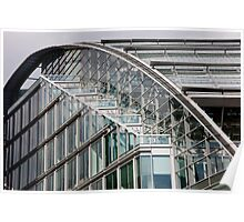 Roller Coaster Glass Poster
