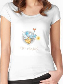 Fairy elephant. Women's Fitted Scoop T-Shirt