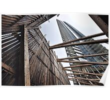 Downtown Vancouver-art in wood & steel Poster