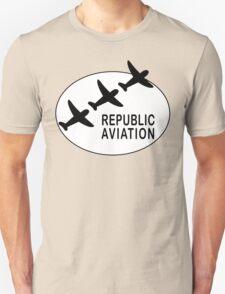 Republic Aviation Repro Logo (White Ver.)  Unisex T-Shirt