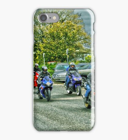 Group Of Bikers iPhone Case/Skin