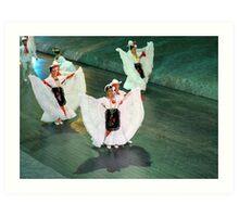 mexican dancers Art Print