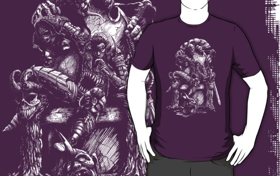 Lair of the Demon King Tee by Steven  Austin