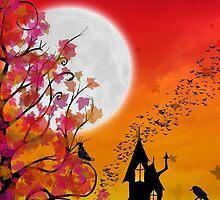 Happy Halloween Card ~ Autumn Evening on Eartheeria  by Sam Stormborn Ormandy