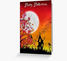 Happy Halloween Card ~ Autumn Evening on Eartheeria  Greeting Card
