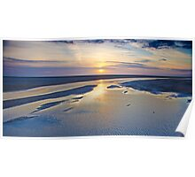 Sun Dipping Into The Sea Poster