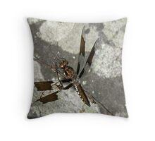 Common Whitetail Dragonfly - Plathemis lydia Throw Pillow