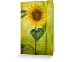 Sunflower Notes Greeting Card