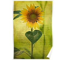 Sunflower Notes Poster