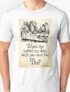 Alice in Wonderland Quote - Tea - Mad Hatter Quote - 0107 Unisex T-Shirt
