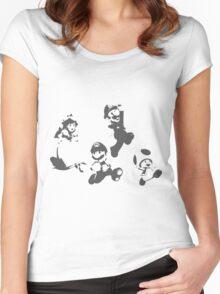 Super Mario 3D World - Minimalistic Press Print Women's Fitted Scoop T-Shirt