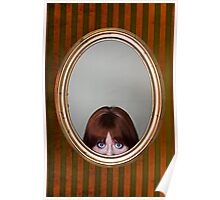 Peeping Girl - Mounted on Trophy Wall Poster