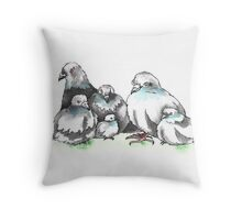 pigeons Throw Pillow