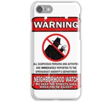 Elm Street Neighborhood Watch iPhone Case/Skin