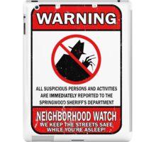 Elm Street Neighborhood Watch iPad Case/Skin
