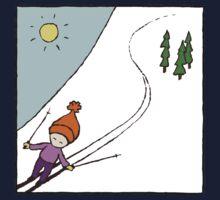Ski Fun Kid's T-shirt One Piece - Short Sleeve