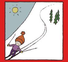Ski Fun Kid's T-shirt Baby Tee