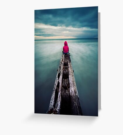 To have the world in front of you. Greeting Card