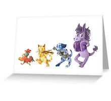 The Town Musicians of Bremen Greeting Card