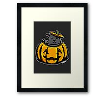 Cute Pumpkin Cat Halloween Framed Print