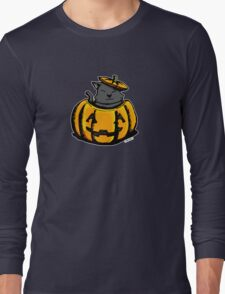 Cute Pumpkin Cat Halloween Long Sleeve T-Shirt