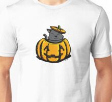 Cute Pumpkin Cat Halloween Unisex T-Shirt