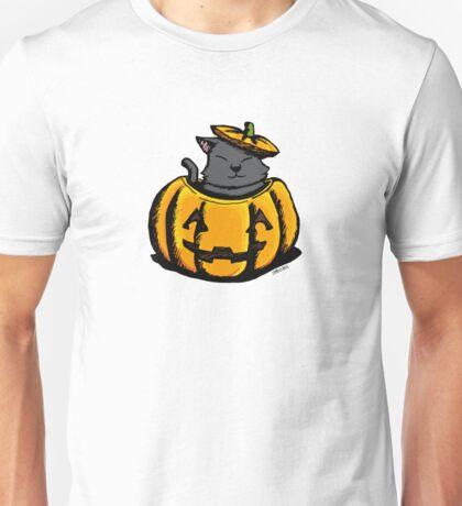 Cute Pumpkin Cat Halloween Unisex T-Shirt