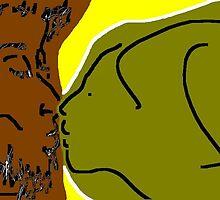the kiss -(010611c)- digital artwork/ms paint    by paulramnora