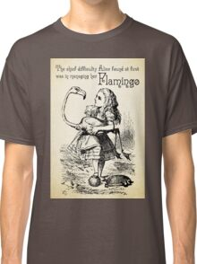 Alice in Wonderland Quote - Flamingo - Mad Hatter Quote - 0120 Classic T-Shirt