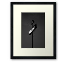 Motel in the Sky Framed Print