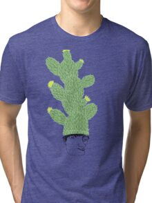 Cactus Hat Hipster Street Wear Tri-blend T-Shirt