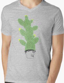 Cactus Hat Hipster Street Wear Mens V-Neck T-Shirt