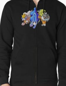 Crowne Beasts- Shiny Entei, Raikou, Suicune Zipped Hoodie