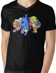 Crowne Beasts- Shiny Entei, Raikou, Suicune Mens V-Neck T-Shirt