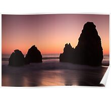 Sunset at Rodeo Beach Poster