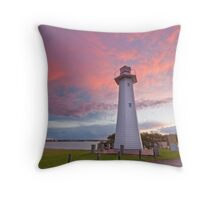 Cleveland Point Lighthouse Throw Pillow