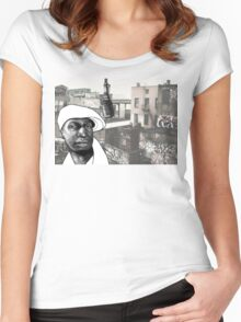 Grandmaster Flash Women's Fitted Scoop T-Shirt