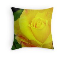 Yellow and Pink 2 Throw Pillow